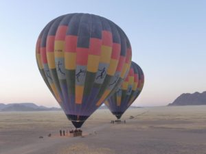 Hot air ballooning in Namibia after your medical placement